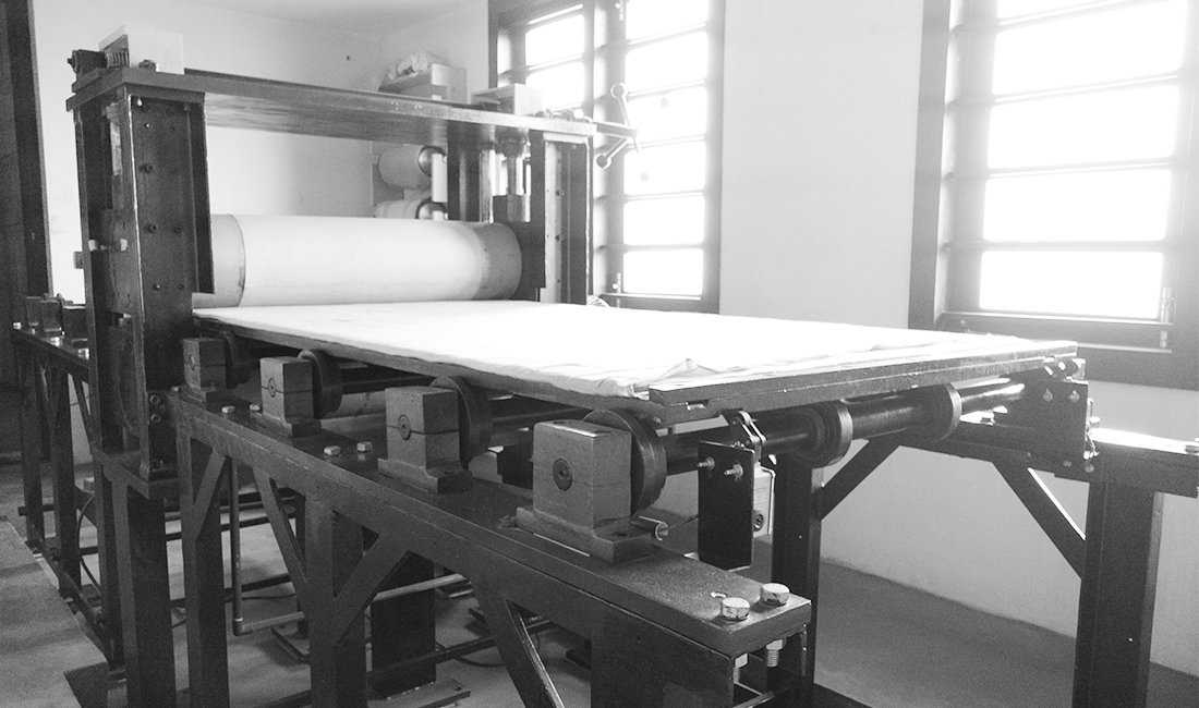 Printmaking studio Etching studio